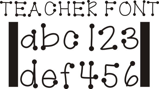 Free Fonts with Dots On Letters