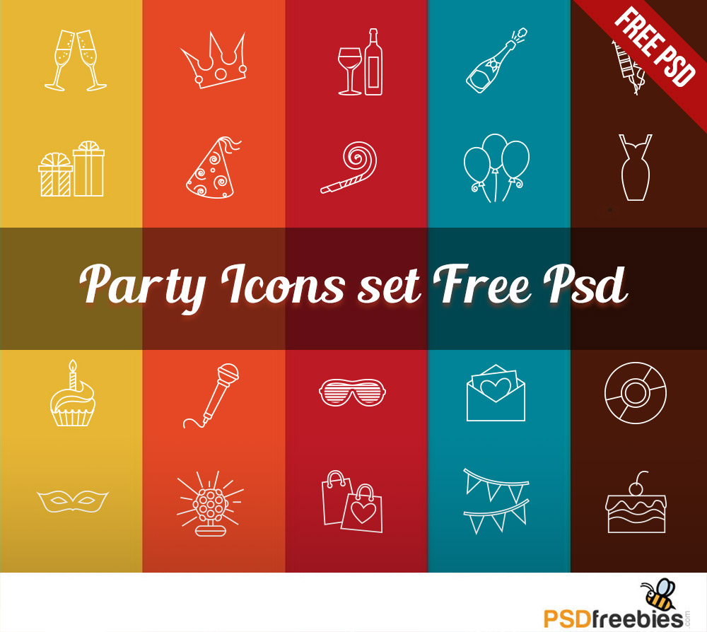 Free Icons PSD Set