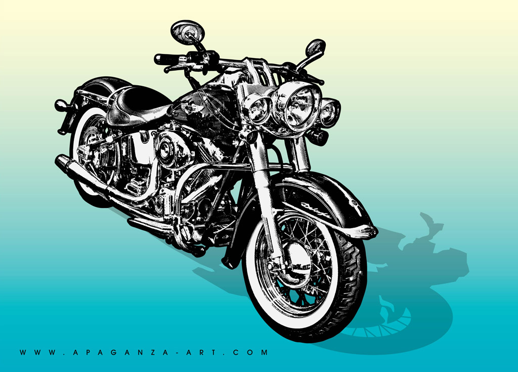 13 Motorcycle Vector Art Images