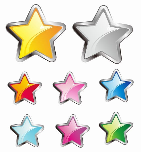 7 Decorative Stars Vector Free Images