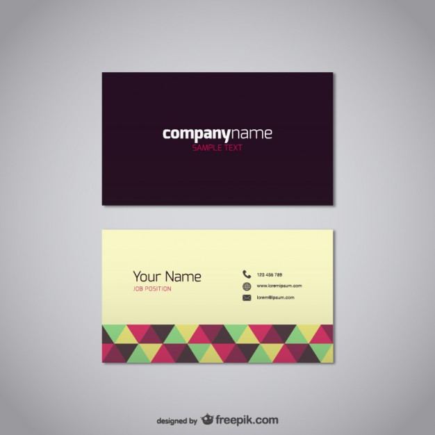 19 free business card templates vector images free blank business free vector business card templates wajeb Gallery