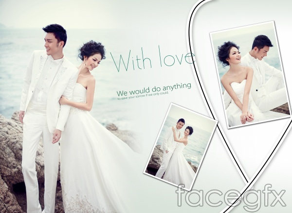 7 Wedding PSD Photoshop Design Images