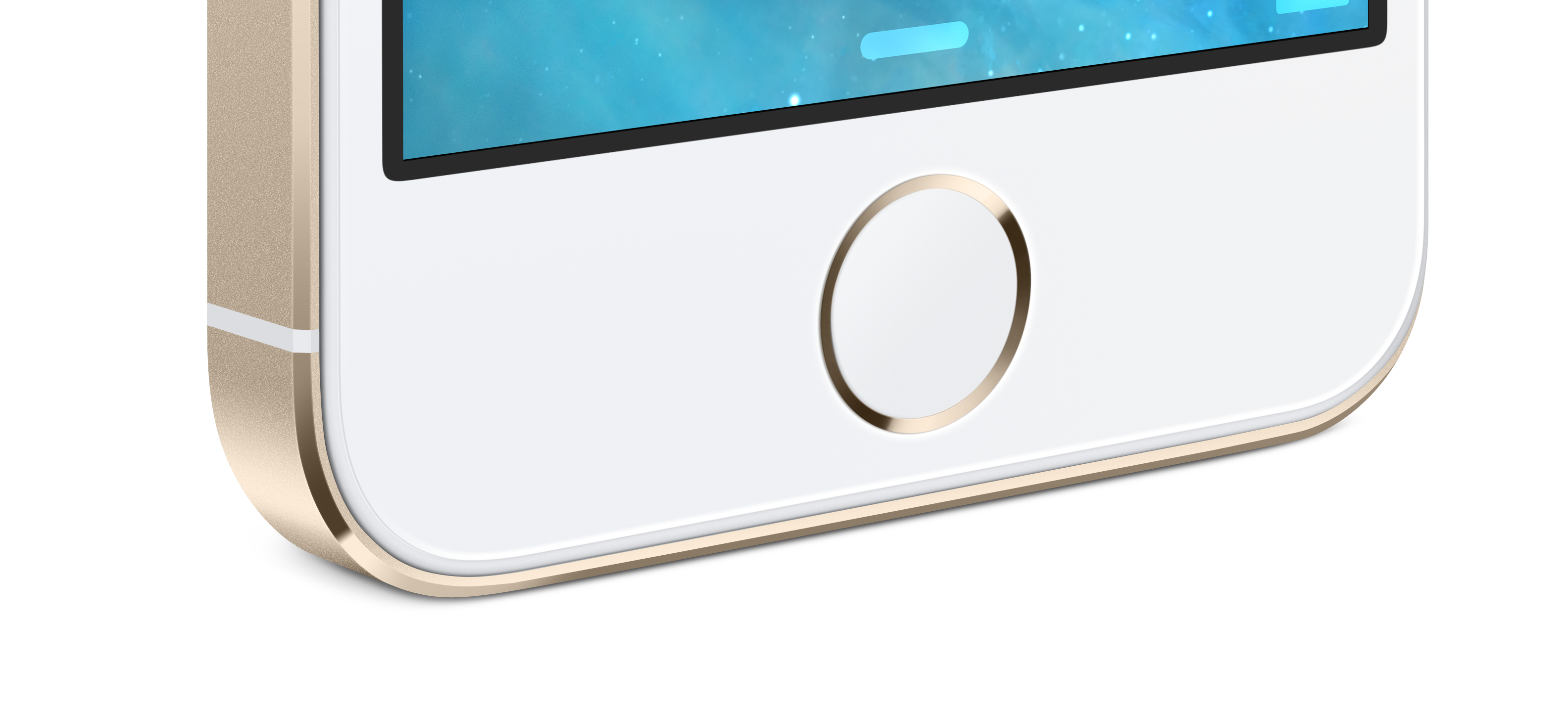 Gold iPhone 5S Home Button
