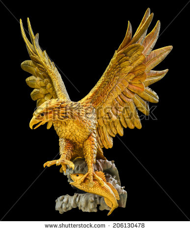 Golden Eagle Logo Black Background