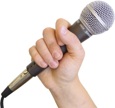 19 Fist Holding Microphone PSD Images