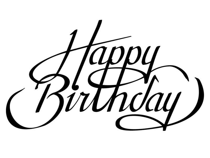 Happy birthday calligraphy font images