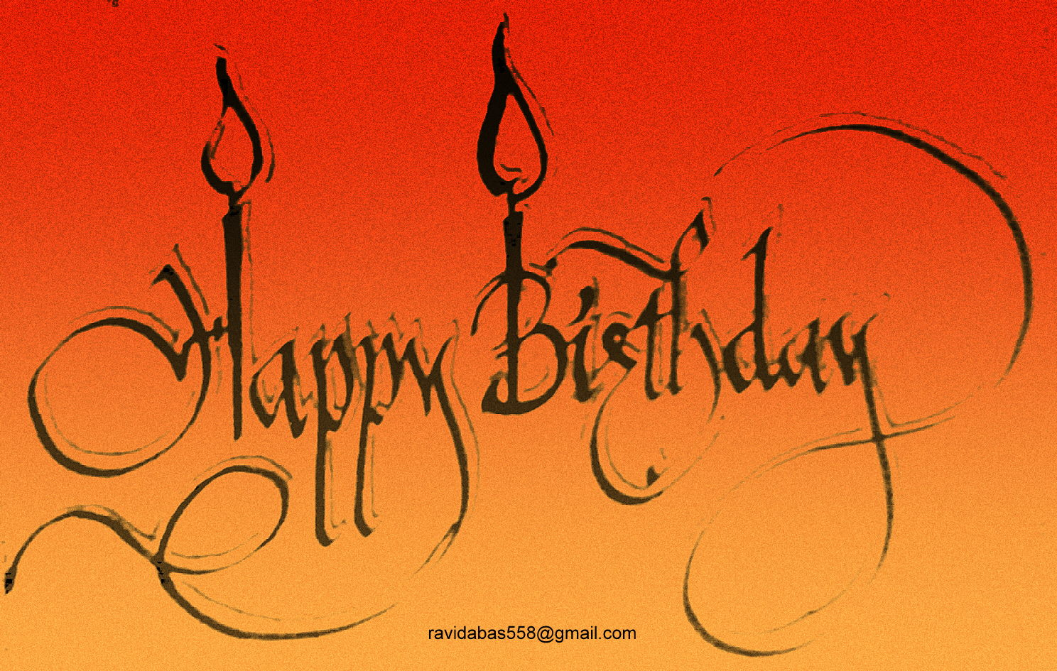Happy Birthday Calligraphy