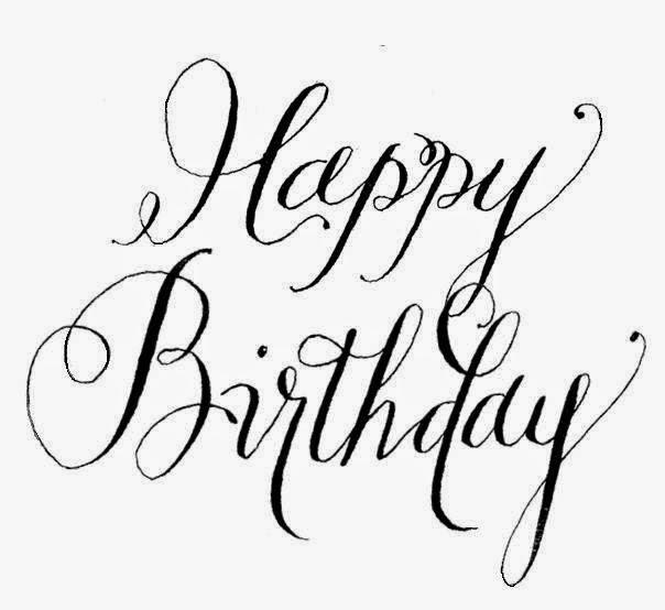 Happy Birthday Schriftart ~ Happy birthday calligraphy font images