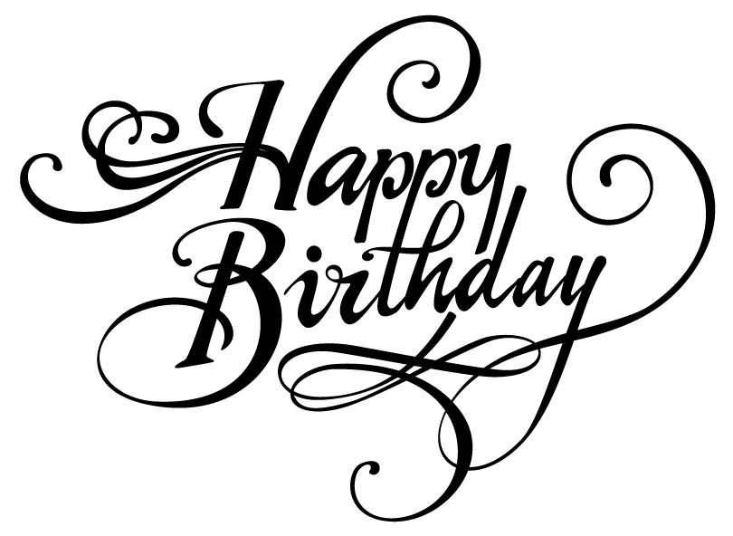Happy Birthday Font Drawing