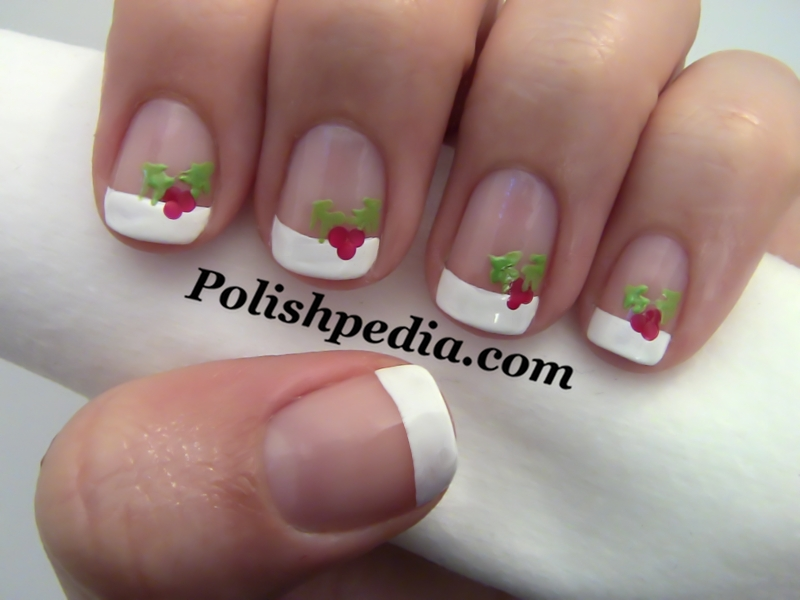 15 Christmas French Tip Nail Art Design Images Christmas French
