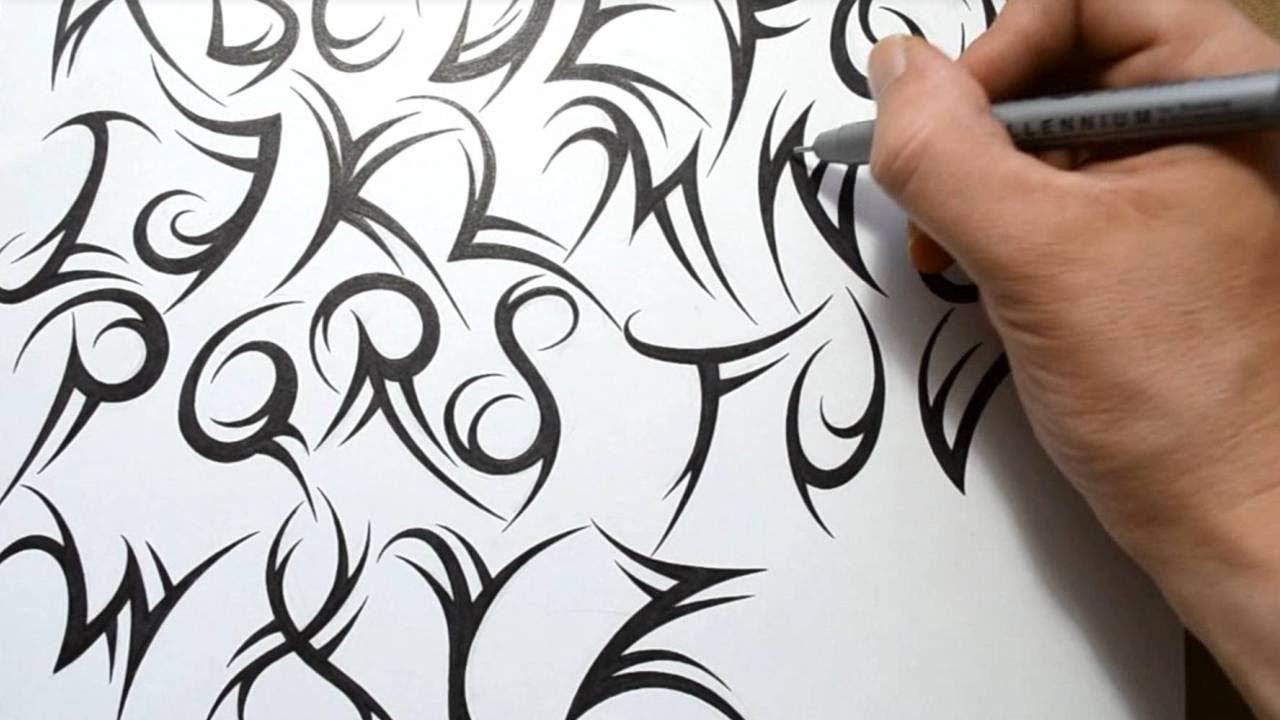 How to Draw Cool Tribal Letters