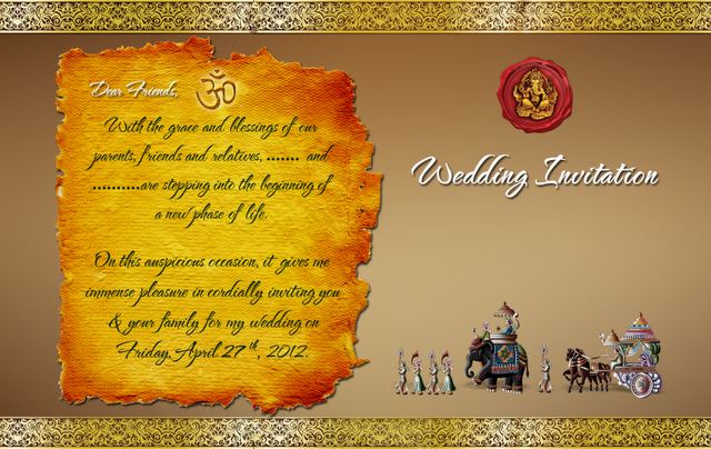 Indian Wedding Card Templates