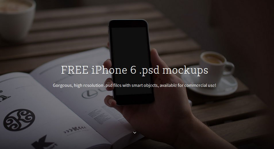 iPhone 6 Hand Mockup PSD