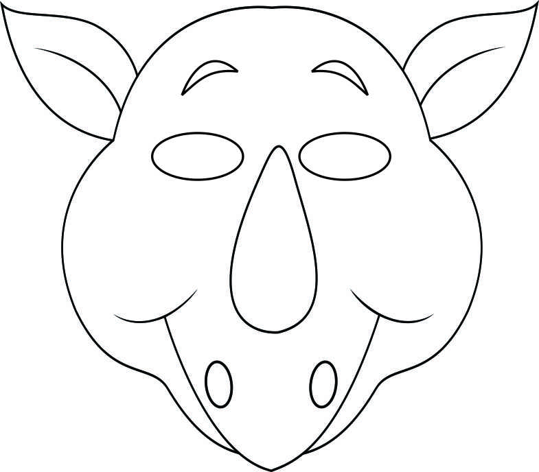 printable mouse mask template - 14 animal masks templates images jungle animal mask