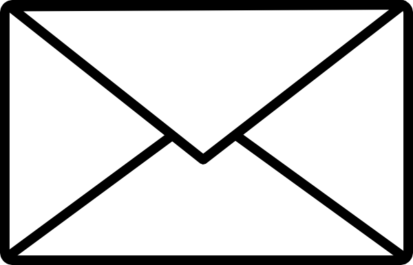 13 Black Email Icon Clip Art Images