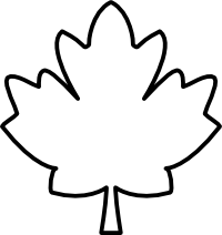 Maple Leaf Clip Art Black and White