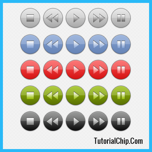 16 Music Player Buttons Icon.png Images