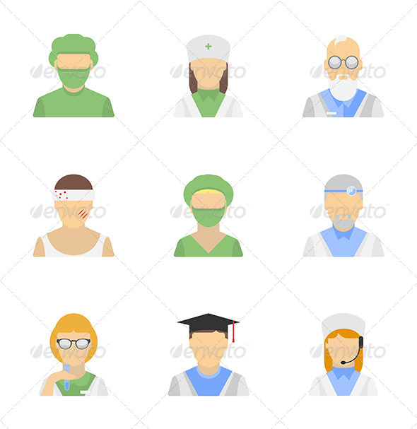 Medical Vector People Icons