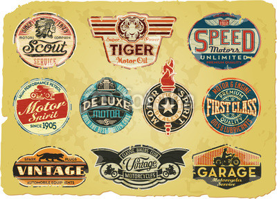 Motor Oil Vintage Can Labels