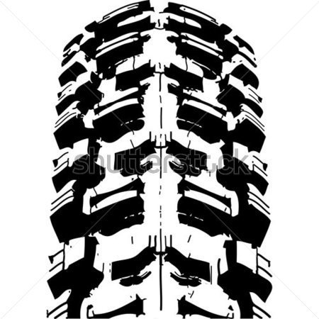 16 MT Bike Tracks Vector Images