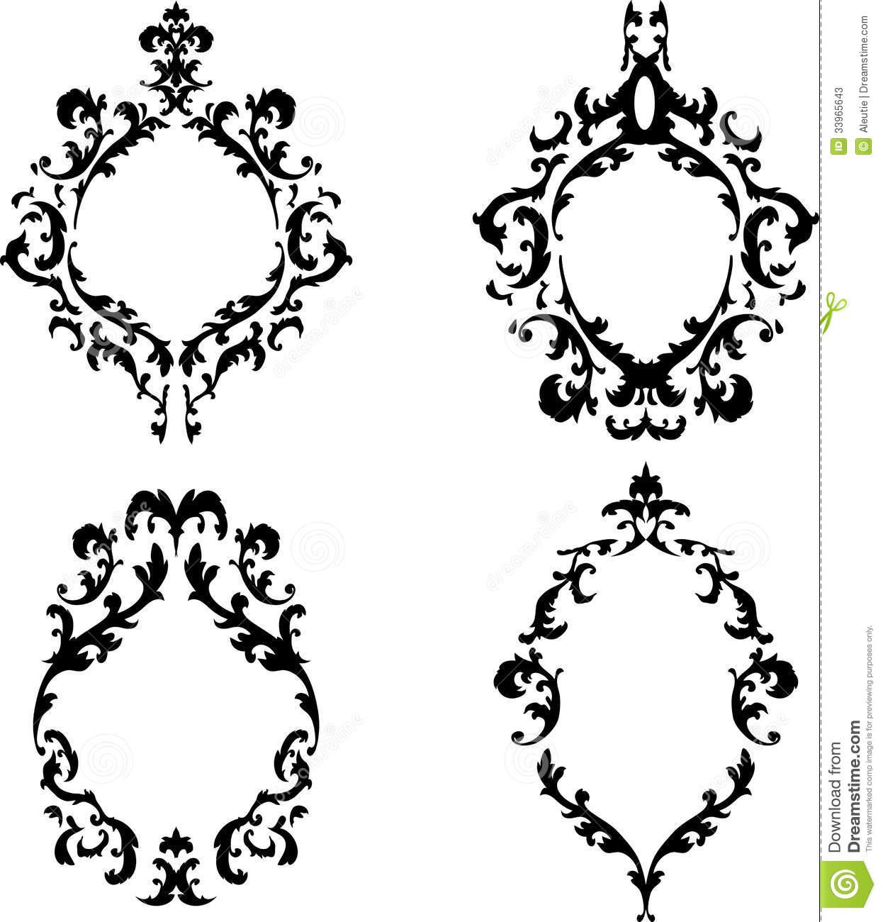 Ornate Oval Frame Clip Art