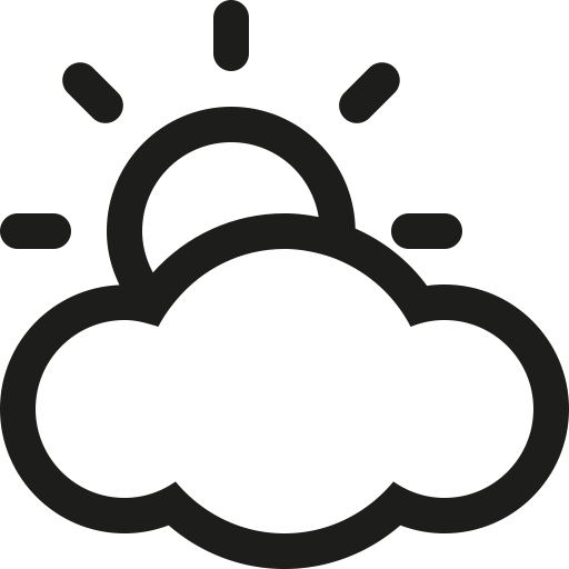 Partly Sunny Weather Clip Art Black and White