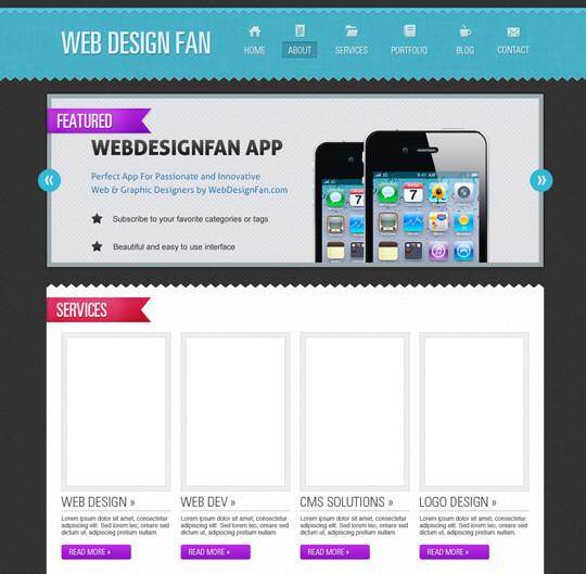 Photoshop Web Layout Design