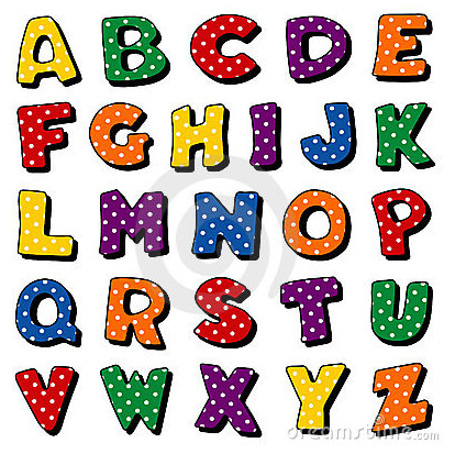8 Polka Dot Letters Font Images