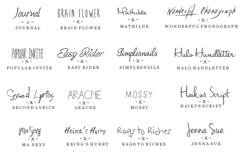 Popular Tumblr Fonts
