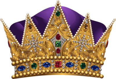 Purple Queen Crown PSD