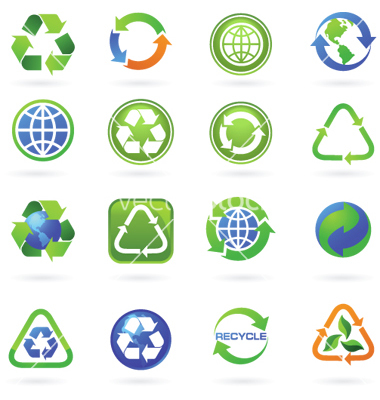 15 trash art free vector logos images blue recycling