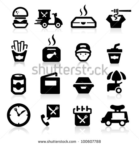 9 Fast Food Delivery Icon Images