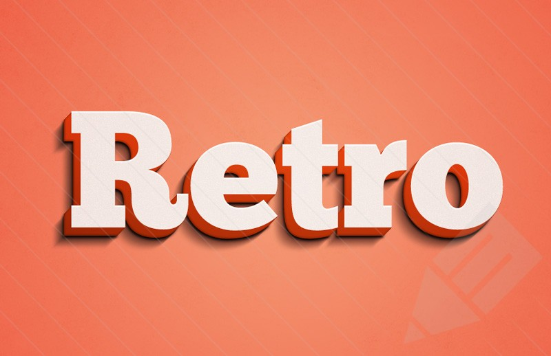 Retro PSD 3D Text Effects