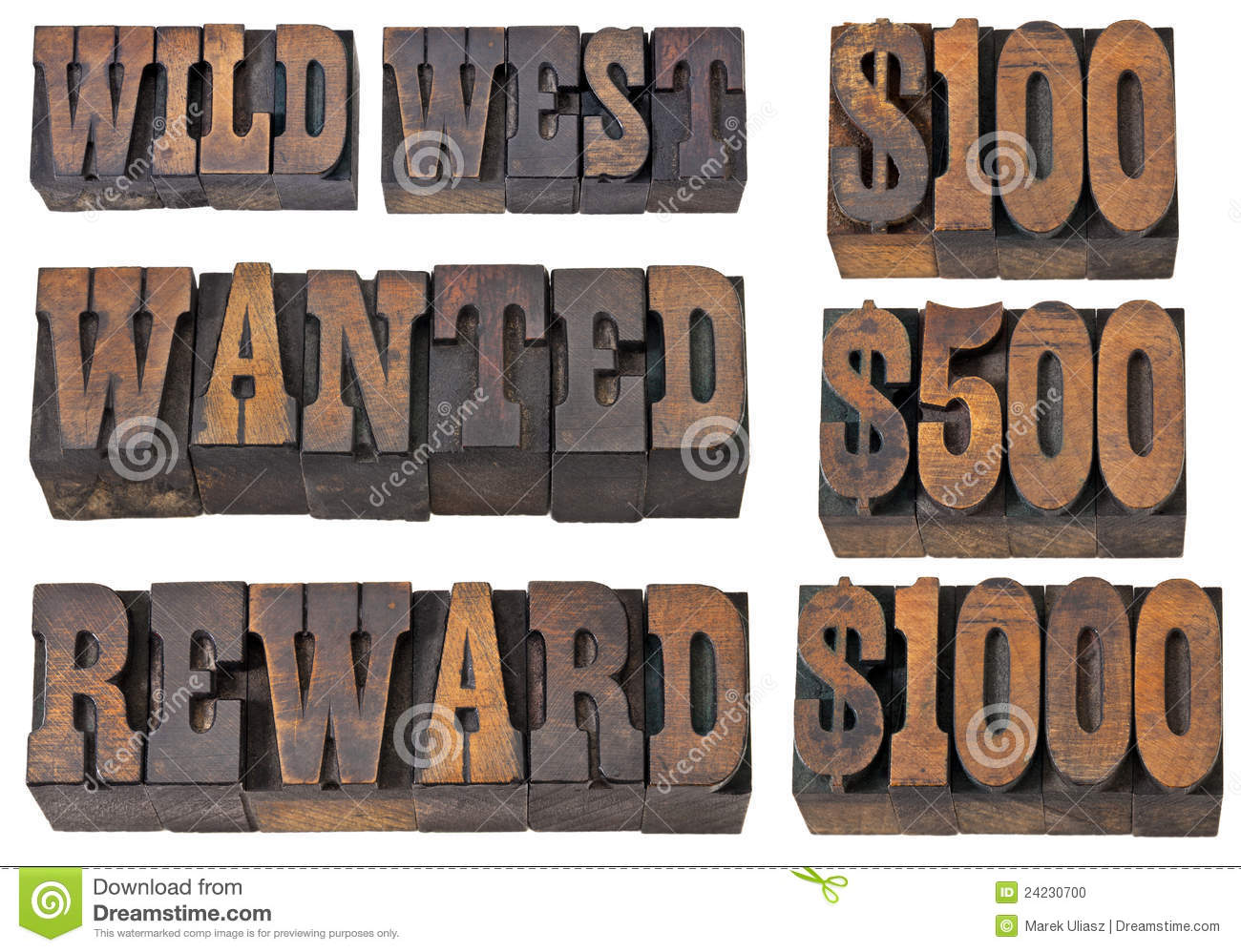 Reward Wanted Old Western Fonts