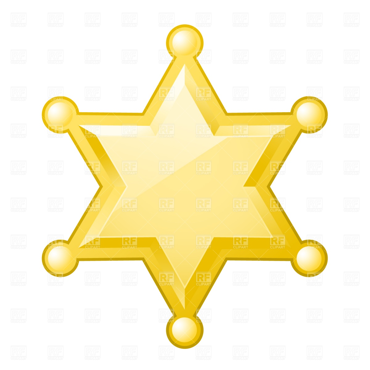 Sheriff Star Badge Clip Art