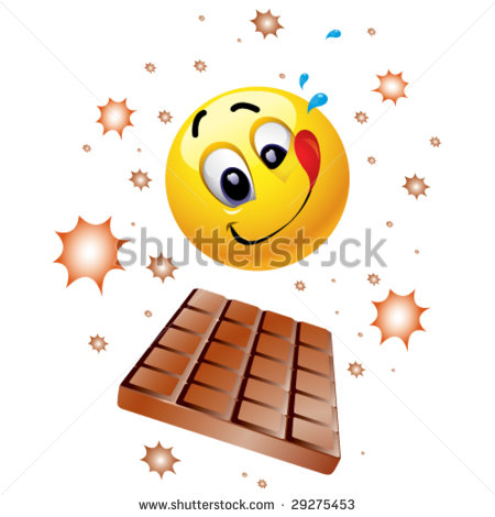 Smiley-Face Eating Chocolate