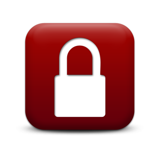 6 Red Lock Icon Images