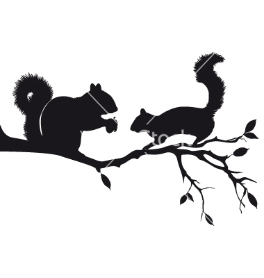 9 Squirrel Silhouette Vector Images