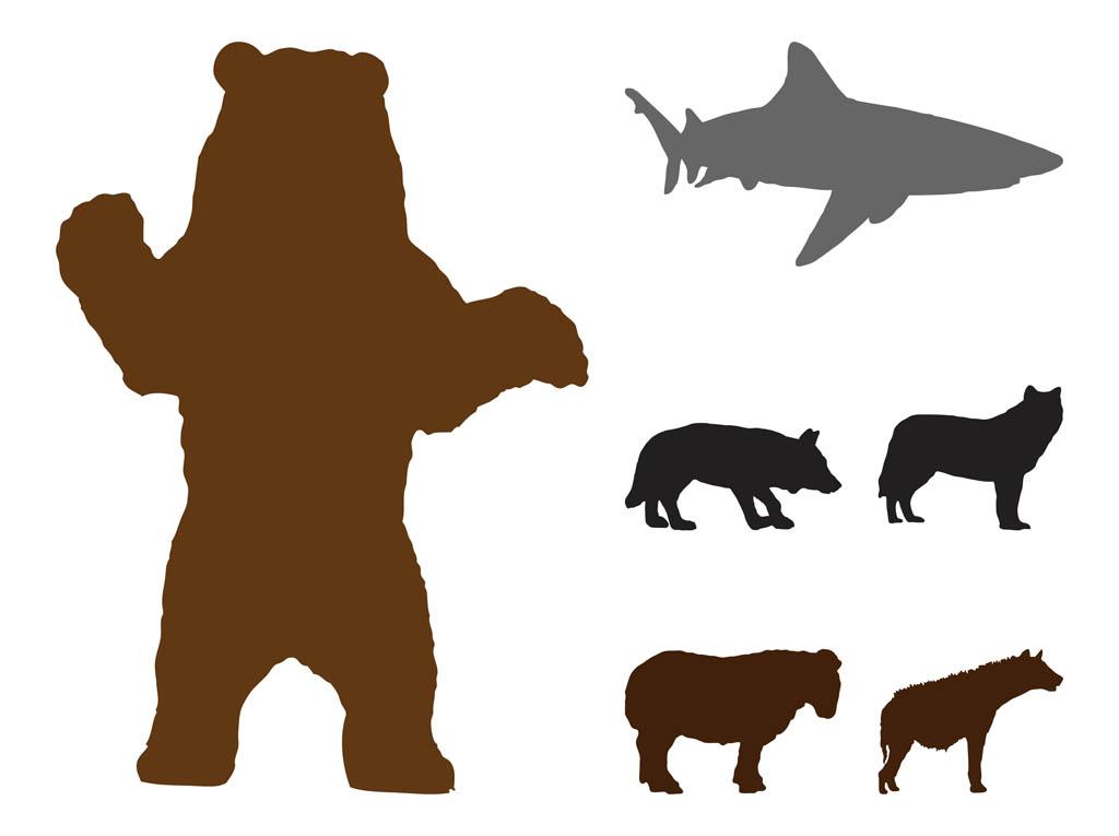 Standing Bear Silhouette Clip Art