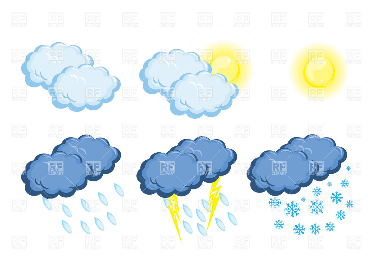 Sun and Rain Weather Clip Art Free