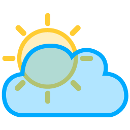 Sun Cloud Icon