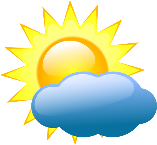 9 Sun And Cloud Weather Icon Images