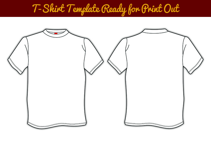 T-Shirt Template Print Out