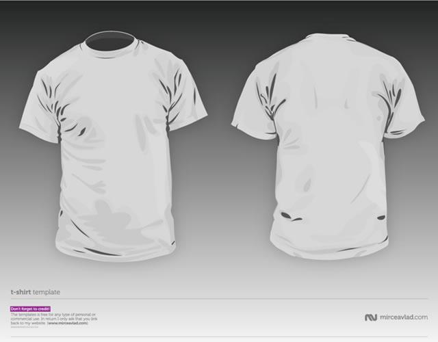T-Shirt Template PSD