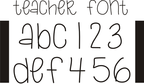 Teacher Bubble Letters Cute Font