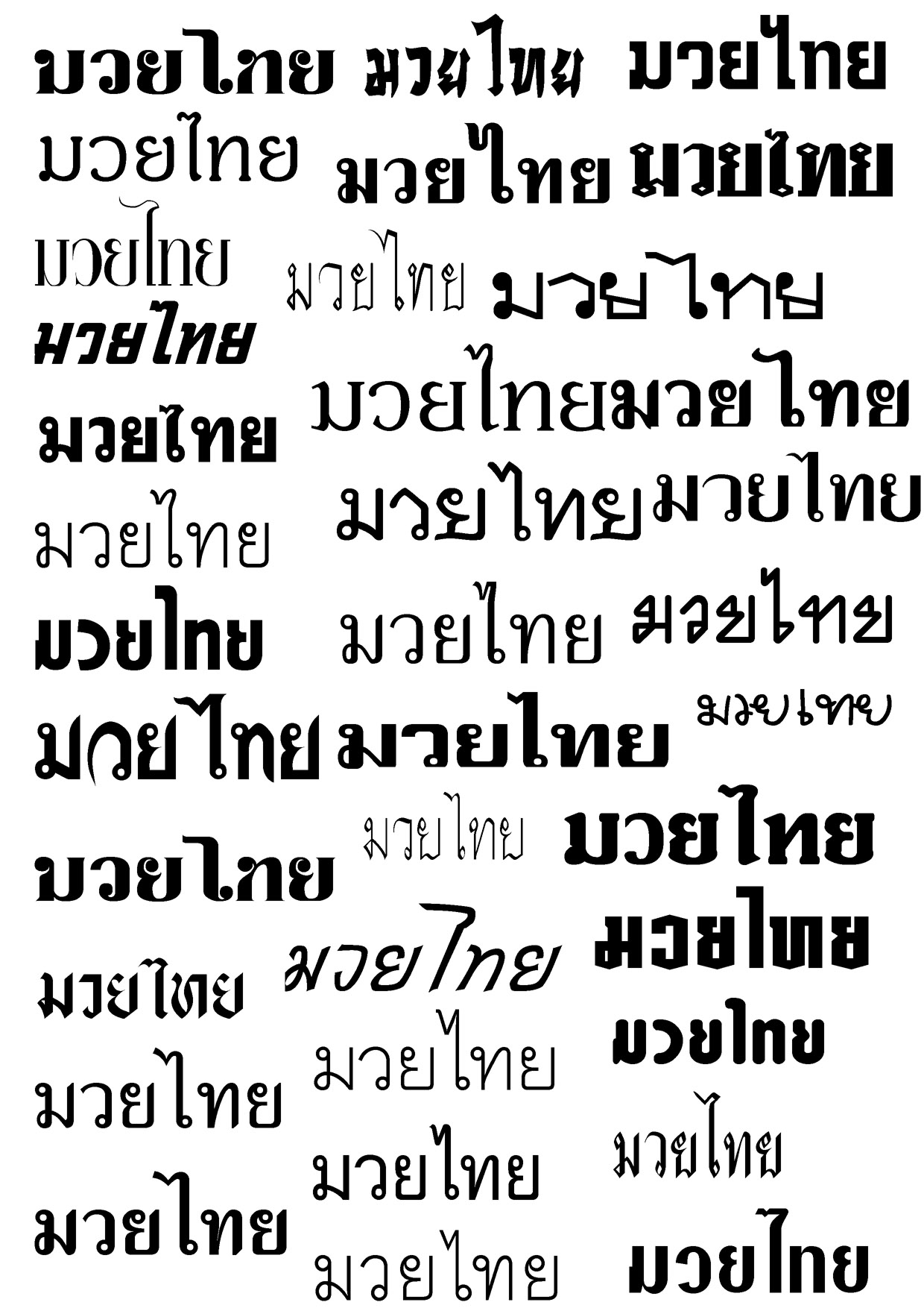 Thai Language Writing