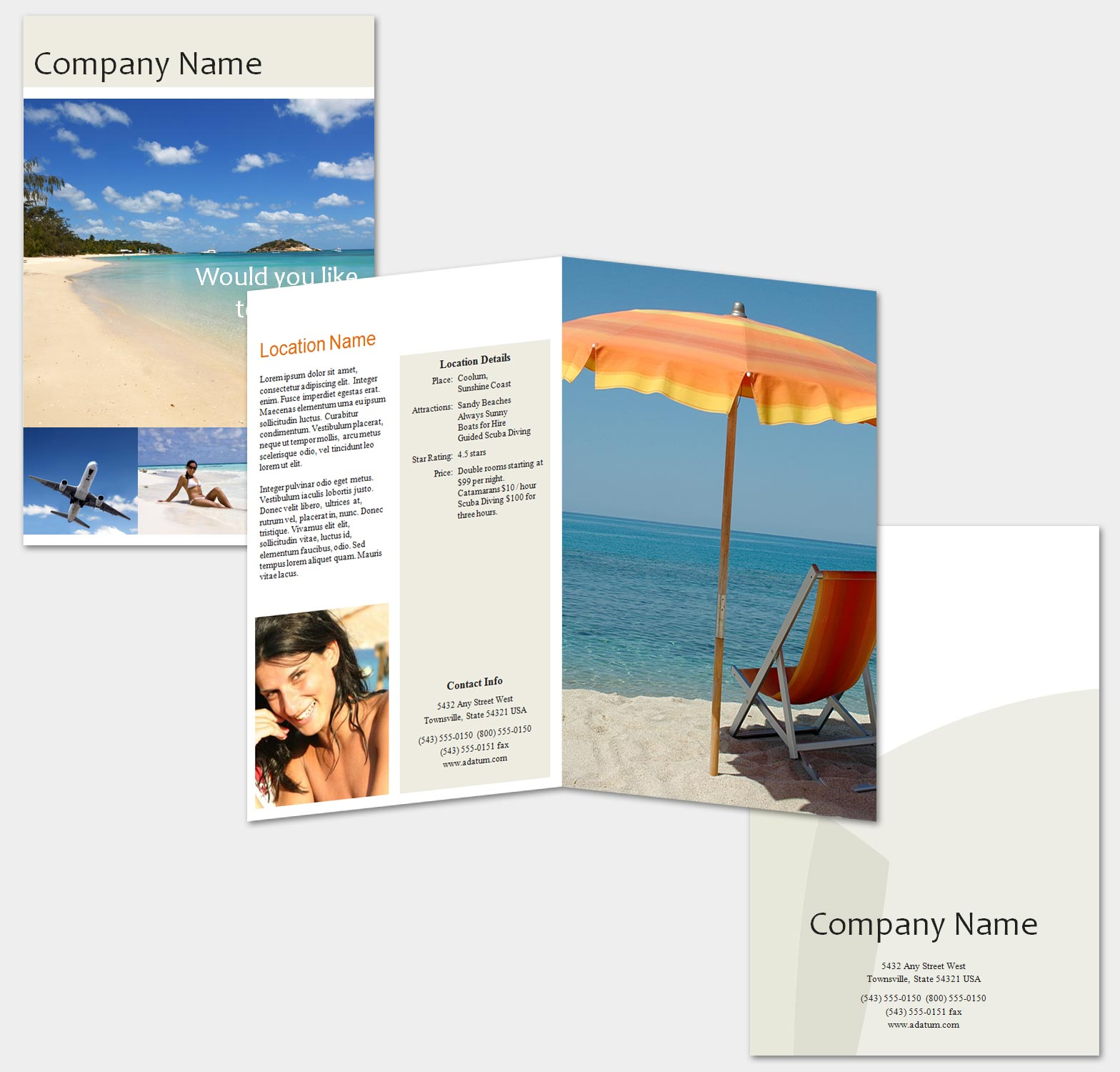 13 Travel Brochure Design Templates Images