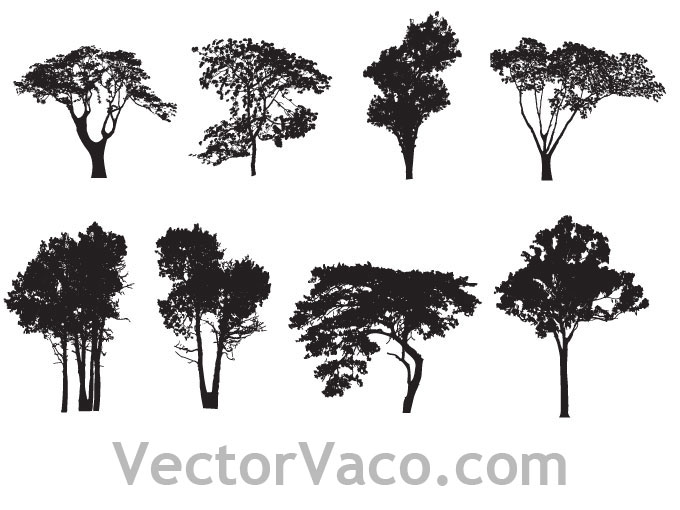 15 Tree Silhouette Free Vectors Images