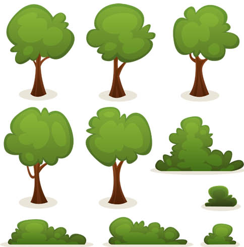 16 Free Vector Shrubs Images