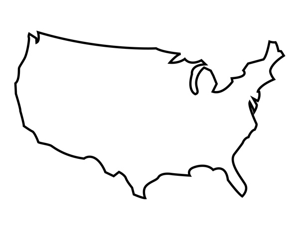 USA Map Outline Template Images United States Outline - Usa map blank printable